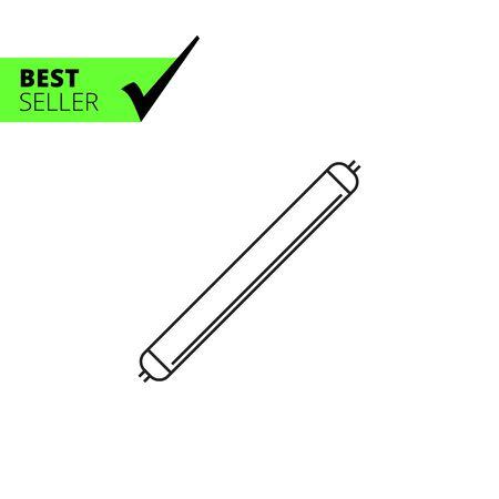 Line icon of luminous tube lamp