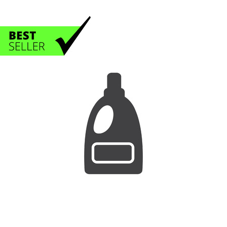 Icono de la botella de plástico de detergente líquido