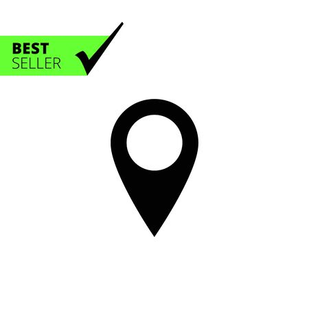 map pin: Vector icon of blank map pointer pin Illustration