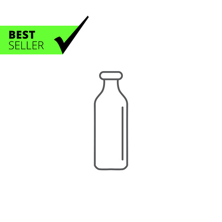 storing: Icon of empty milk bottle