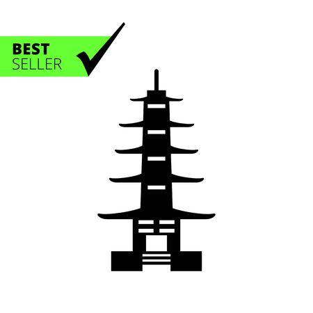 shinto: Pagoda icon Illustration