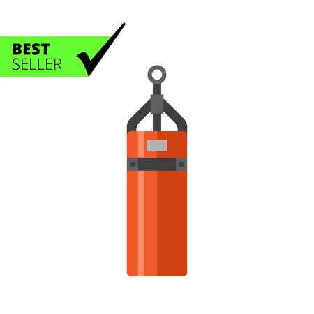 cylindrical: Multicolored vector icon of cylindrical punching bag Illustration