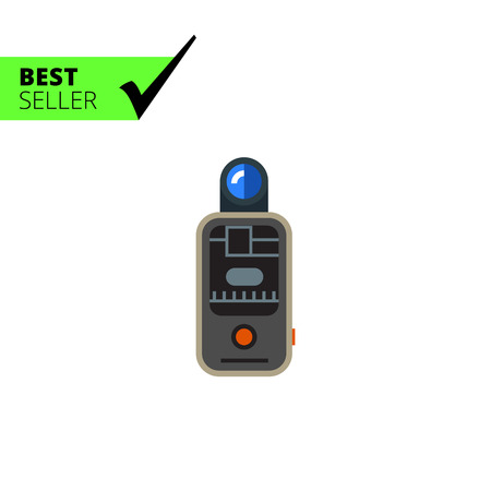 shutter speed: Vector icon of camera remote flash trigger