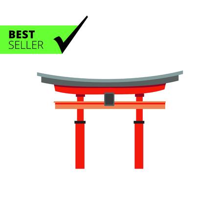 Icon of Japanese torii gate Illustration