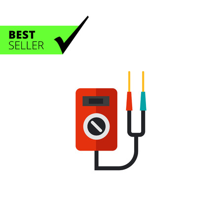 Multicolored vector icon of multi functional voltage indicator