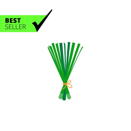 bunch: Vector icon of spring onion bunch Illustration