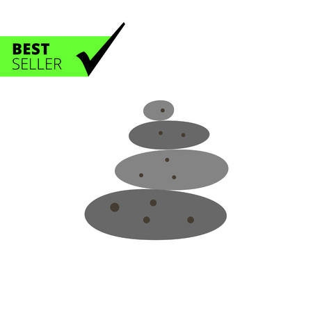 stacked stones: Multicolored vector grey stones for spa stone therapy Illustration
