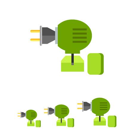 fumigador: Multicolored vector icon of anti-mosquito fumigator Vectores