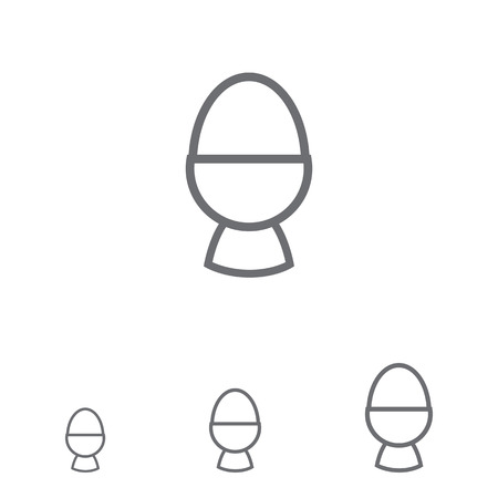 boiled eggs: Icon of boiled egg in egg cup