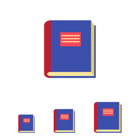 thick: Icon of thick book with blue cover