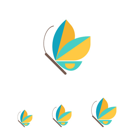 blue butterfly: Blue butterfly icon