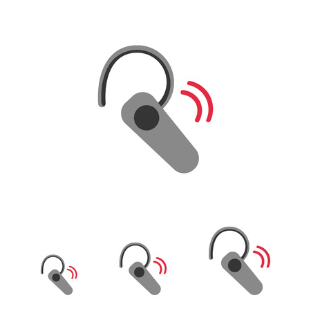 bluetooth headset: Icon of Bluetooth headset
