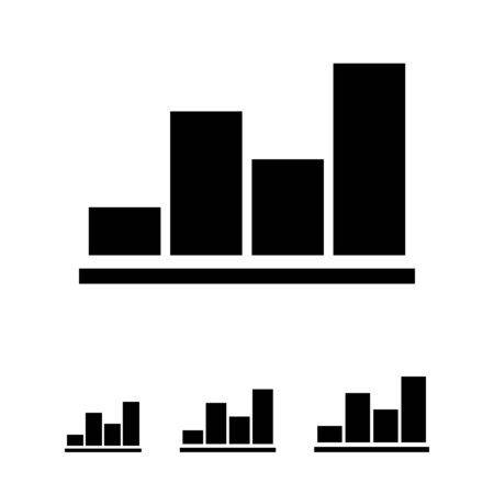 uptrend: Monochrome vector icon of growing bar chart
