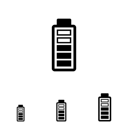 charge: Icon of battery with charge level indication