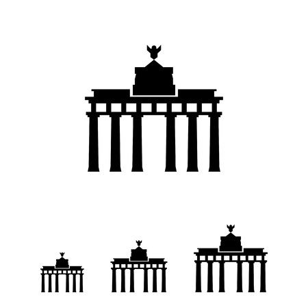 cross and eagle: Brandenburg gate icon