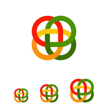 bucle: icono de vectores multicolor del bucle de ornamento celta