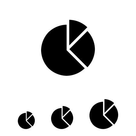 segments: Vector icon of circular diagram with separate segments Illustration
