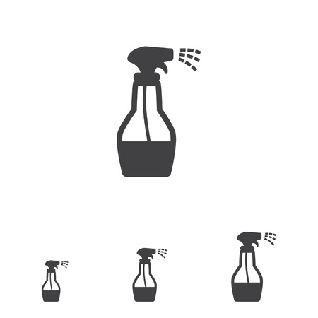 tidy: Icon of spray bottle with cleaning liquid Illustration