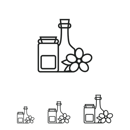 wash face: Cosmetic bottles icon