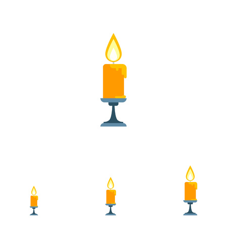 sconce: Icon of burning candle in sconce