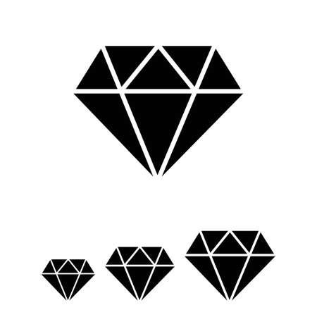 diamond cut: icon of diamond with round cut