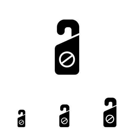 do not disturb: Icon of Do not disturb label with prohibition sign