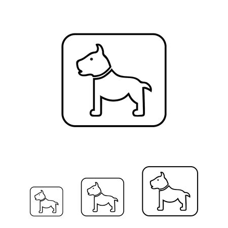 sniffing: Icon of dog sign