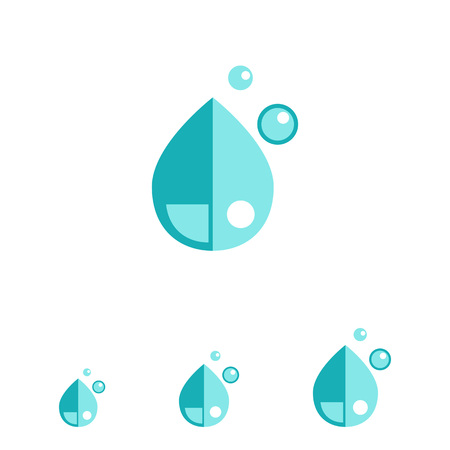 condensation: Multicolored vector icon of liquid drops Illustration