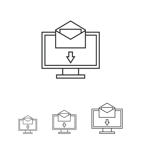 by mail: Electronic mail icon