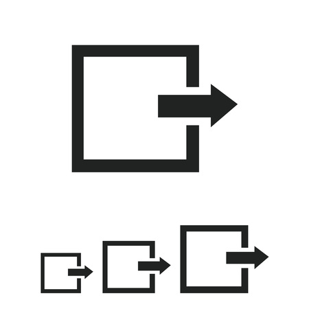 way out: Icon of exit or log out sign