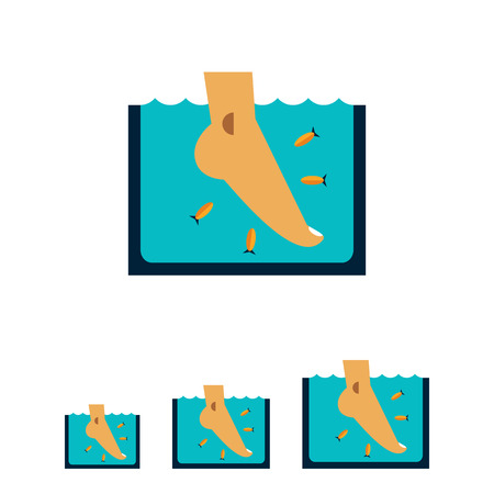garra: Multicolored vector icon of Garra Rufa fish peeling Illustration
