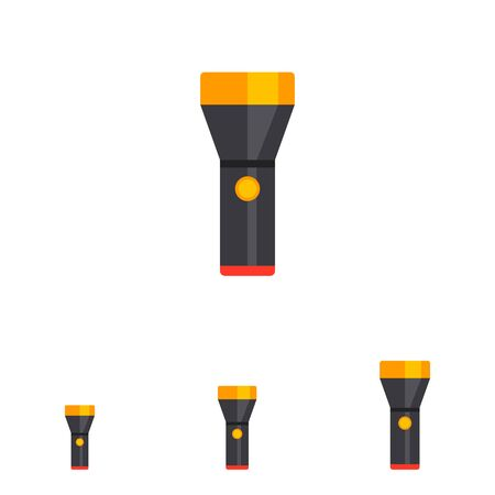 electric torch: Flashlight icon Illustration