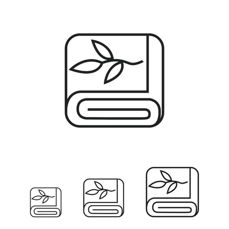 folded: Folded towel icon