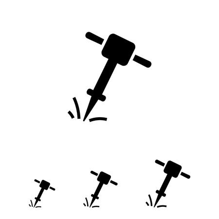 presslufthammer: Symbol der Arbeitspresslufthammer