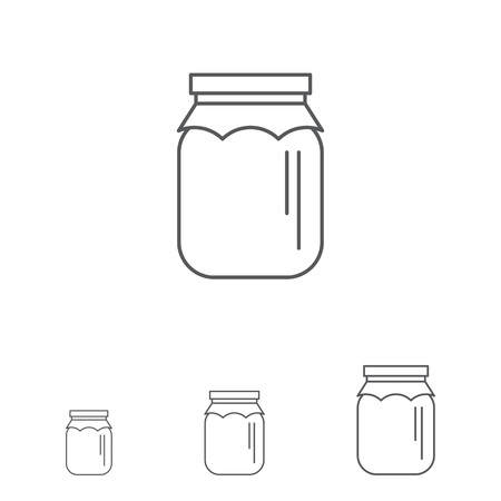 Icon of jar with paper cover Illustration