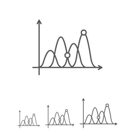 line graph: Icon of line graph