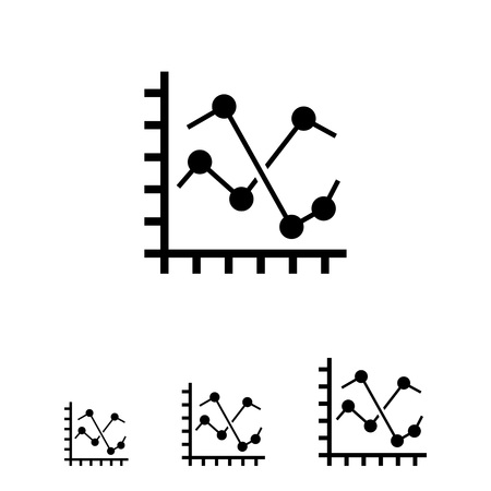 histogram: Line histogram icon