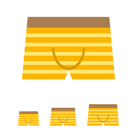 underpants: Icon of striped male underpants Stock Photo