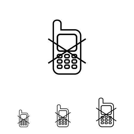 prohibido: Icono del signo de uso del teléfono móvil prohibida
