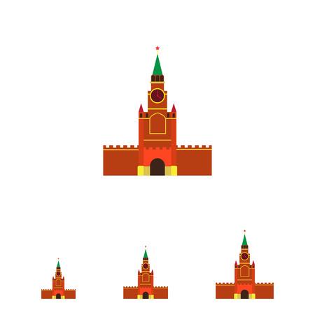 kremlin: Multicolored vector icon of Moscow Kremlin building Illustration