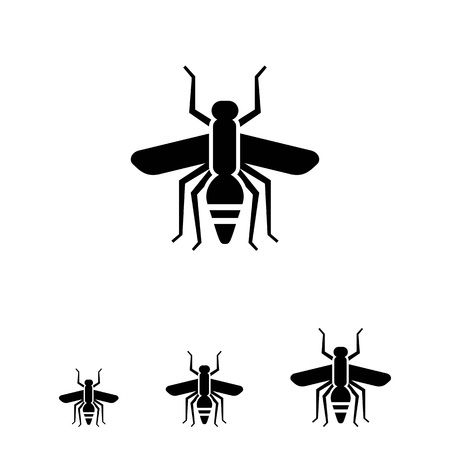 irritation: Vector icon of mosquito silhouette, top view