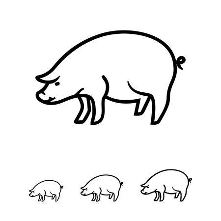 bristles: Pig icon Illustration