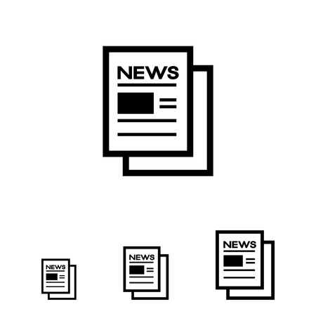 newspaper icon: Online newspaper icon