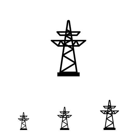 electric power: Icon of voltage pole
