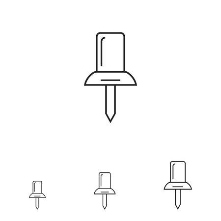 push: Push pin icon