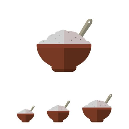 rational: Icon of bowl with porridge and spoon