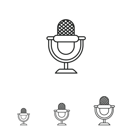 retro microphone: Retro microphone icon