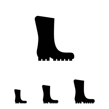 protective: Vector icon of single protective rubber boot Illustration