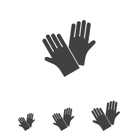 protective: Icon of protective rubber gloves