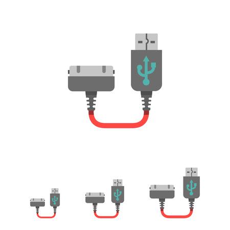 interconnect: Icon of smartphone charging plug Illustration